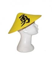 Chinese hoed geel met teken