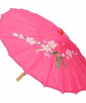 Chinese stijl paraplu fuchsia