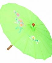 Chinese stijl paraplu groen
