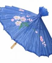 Chinese stijl paraplu groot blauw