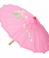 Chinese stijl paraplu groot roze