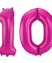 Cijfer ballonnen 10 jaar 86 cm