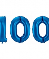Cijfer ballonnen 100 jaar 86 cm 10089941