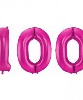 Cijfer ballonnen 100 jaar 86 cm