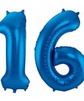 Cijfer ballonnen 16 jaar 86 cm 10089942