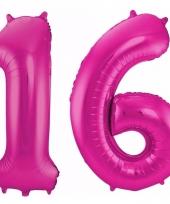 Cijfer ballonnen 16 jaar 86 cm