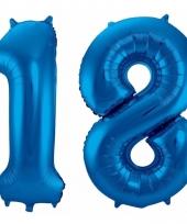 Cijfer ballonnen 18 jaar 86 cm 10089943