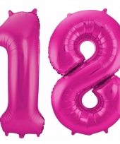 Cijfer ballonnen 18 jaar 86 cm