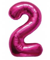 Cijfer ballonnen 2 jaar 86 cm