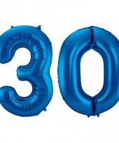 Cijfer ballonnen 30 jaar 86 cm 10089932