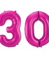 Cijfer ballonnen 30 jaar 86 cm