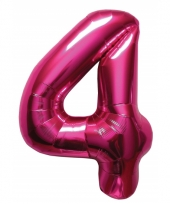 Cijfer ballonnen 4 jaar 86 cm 10072098