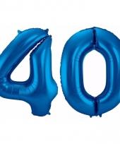 Cijfer ballonnen 40 jaar 86 cm 10089934