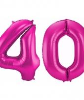 Cijfer ballonnen 40 jaar 86 cm