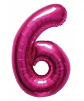 Cijfer ballonnen 6 jaar 86 cm 10072100