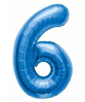 Cijfer ballonnen 6 jaar 86 cm