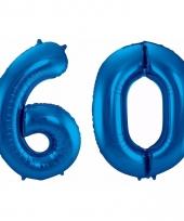Cijfer ballonnen 60 jaar 86 cm 10089936