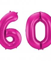 Cijfer ballonnen 60 jaar 86 cm