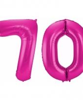 Cijfer ballonnen 70 jaar 86 cm