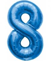 Cijfer ballonnen 8 jaar 86 cm
