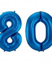 Cijfer ballonnen 80 jaar 86 cm 10089939