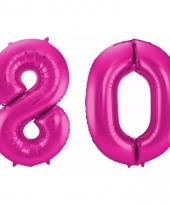 Cijfer ballonnen 80 jaar 86 cm