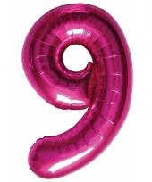 Cijfer ballonnen 9 jaar 86 cm 10072103