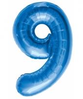 Cijfer ballonnen 9 jaar 86 cm