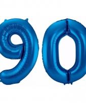 Cijfer ballonnen 90 jaar 86 cm 10089940