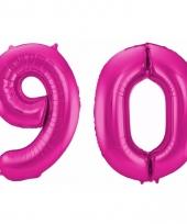 Cijfer ballonnen 90 jaar 86 cm