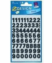Cijfer etiketten stickers watervast 6 vel