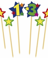 Cijfer kaarsjes op prikker 13