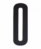 Cijfer sticker 0 zwart 10 cm