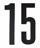 Cijfers nummers stickers 15