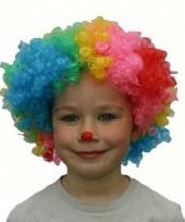 Clowns pruik voor kinderen