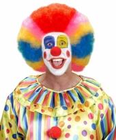 Clownspruik in regenboog kleuren