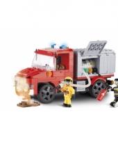 Cobi brandweerwagen set