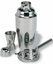 Cocktail shaker maatbekertje en zeef