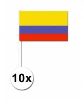 Colombia zwaai vlaggetjes 10x