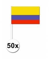 Colombia zwaai vlaggetjes 50x