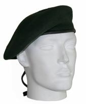 Commando donkergroen soldaat baret