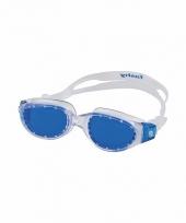 Competitie zwembrillen blauwe glazen voor volwassenen