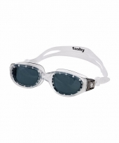 Competitie zwembrillen zwarte glazen voor volwassenen