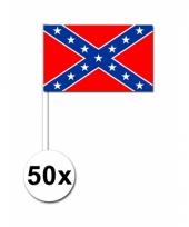 Confederatie amerika zwaai vlaggetjes 50 stuks