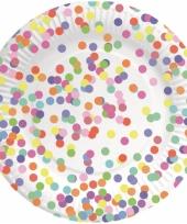 Confetti feest bordjes 8 stuks