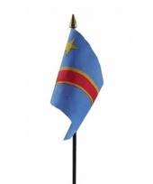 Congolese landenvlag op stokje