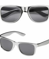 Coole feestbril in het zilver