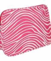 Cosmetica tas in het roze met rits