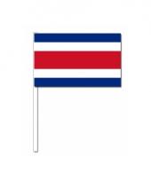 Costa rica zwaai vlaggetjes 12 x 24 cm