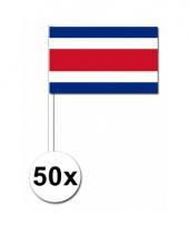 Costa rica zwaai vlaggetjes 50 stuks